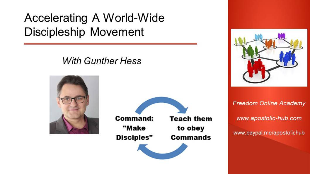 Accelerating A World-Wide Discipleship Movement