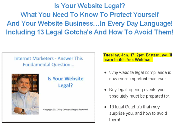 Is Your Website Legal