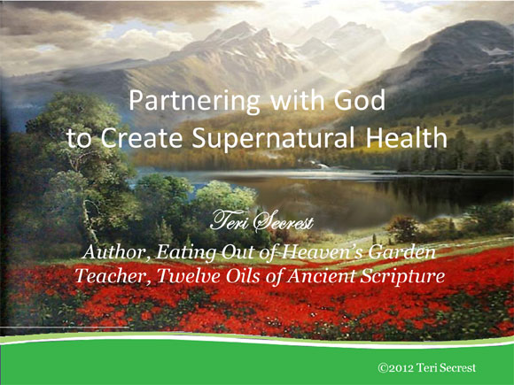 Partnering With God to Create Supernatural Health
