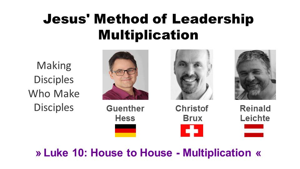 Jesus' Method of Leadership Multiplication